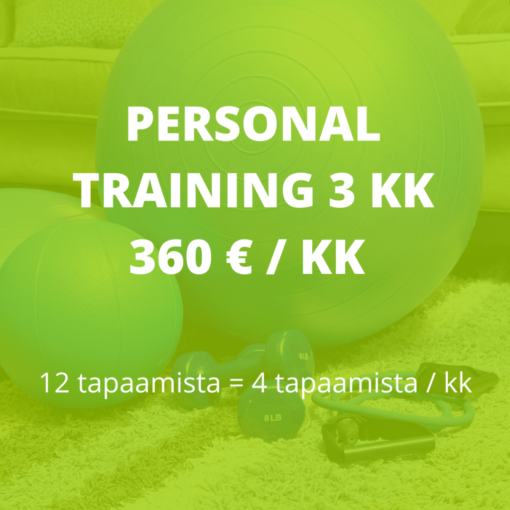 personal training 3 kk valmennus hinta