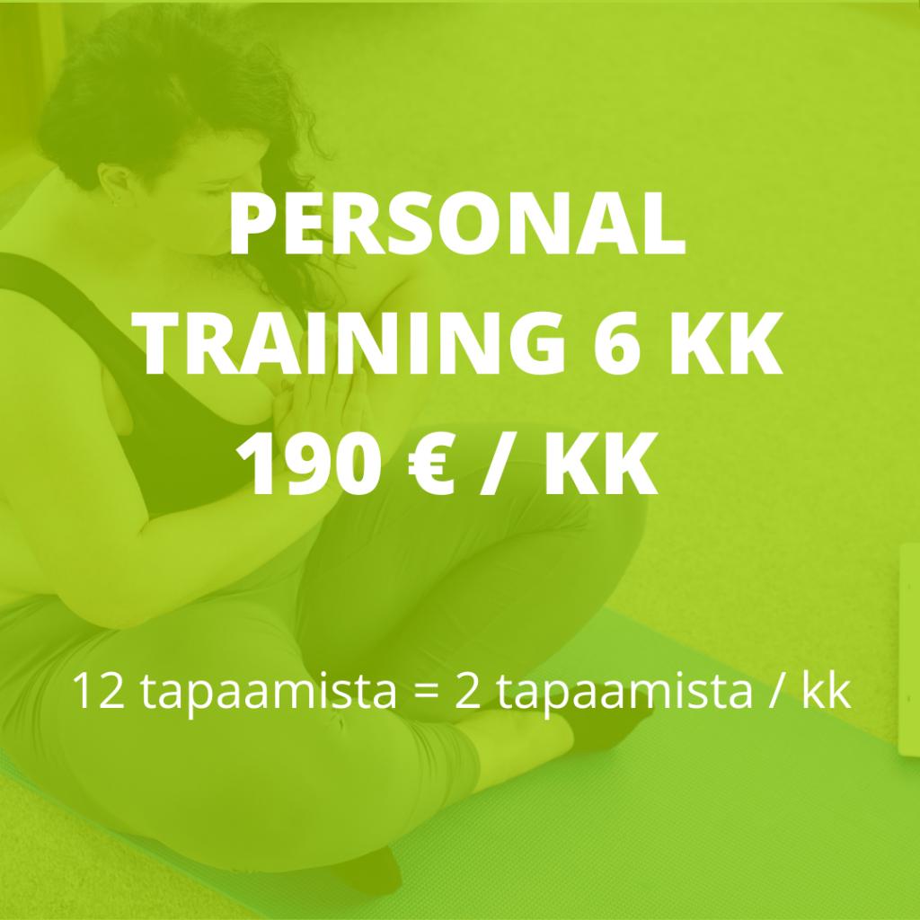 personal training 6 kk valmennus hinta