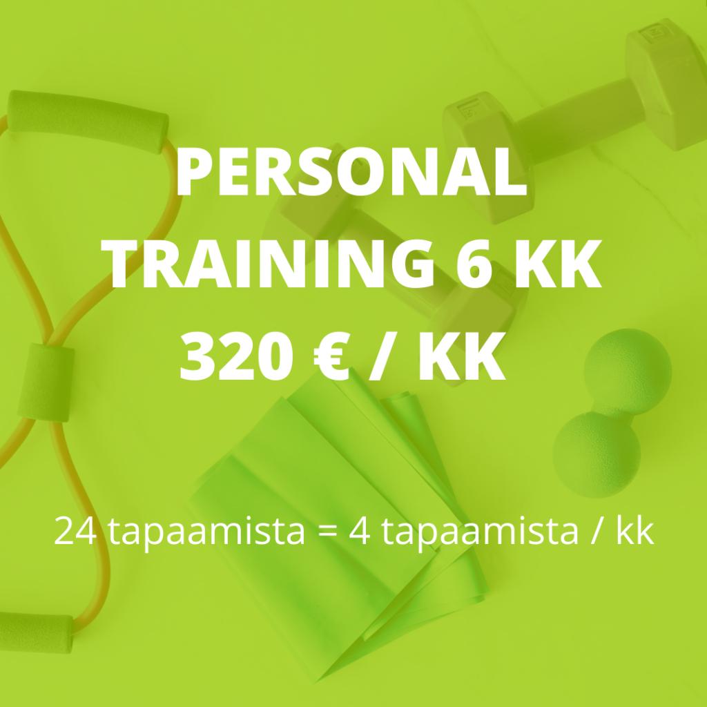 personal training 6kk valmennus hinta
