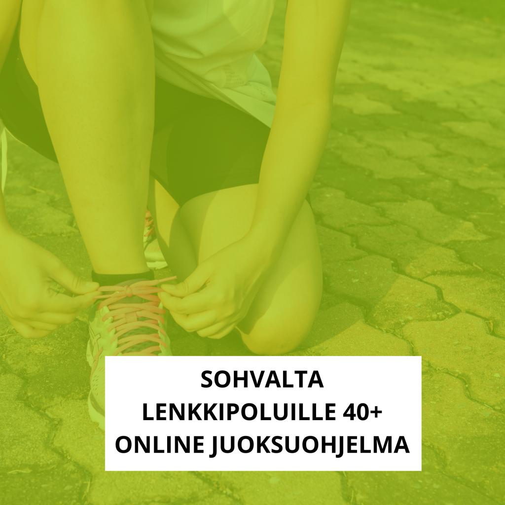 sohvalta lenkkipoluille - online juoksuohjelma 40+ naiselle